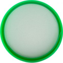 24mm 24-410 Green Ribbed (Matte Top) Plastic Cap w/Foam Liner (3-ply)