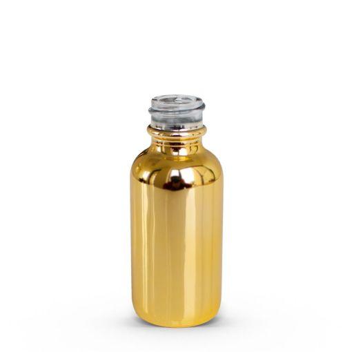 gold glass bottle 30ml 1oz 20-400