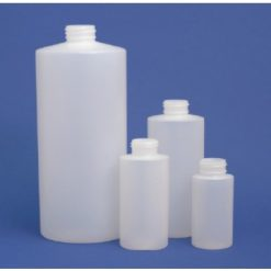 8 oz - 250 ml Natural Plastic Cylinder Rounds