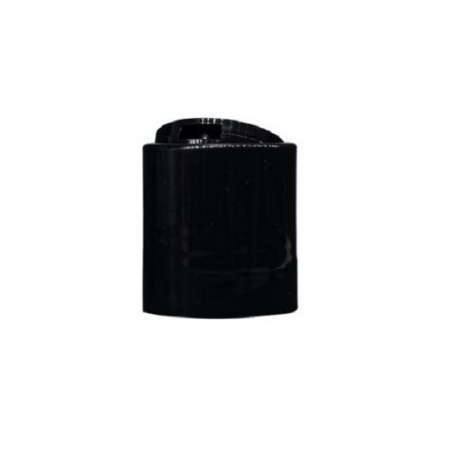 Black 20-410 PP Smooth Wall Disc Top Unlined Cap