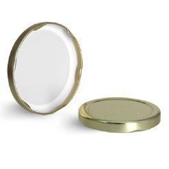 Metal Caps, Gold Metal Plastisol Lined Lug Caps