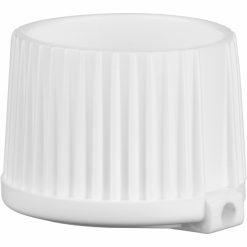 24mm 24-410 White Turret Cap, 3.8mm Orifice – 5,000 Cap / Case