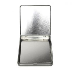 Large Retroflip Pre-Roll Tin - Child Resistant - Silver